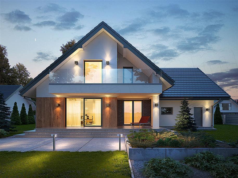 дизайн двухэтажного дома с мансардой фото этой прически заключается